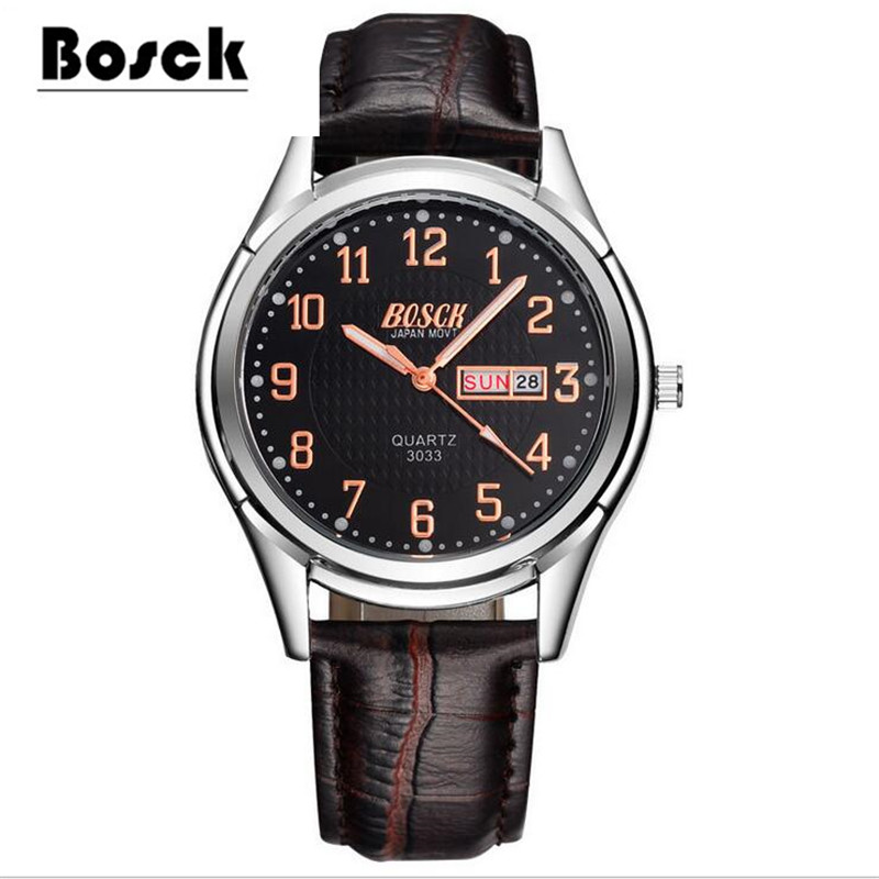 BOSCK3033 ladies watches, men's watches, stainless steel waterproof luminescent casual fashion watches clock relojes hombre golub б1155 3033 2548