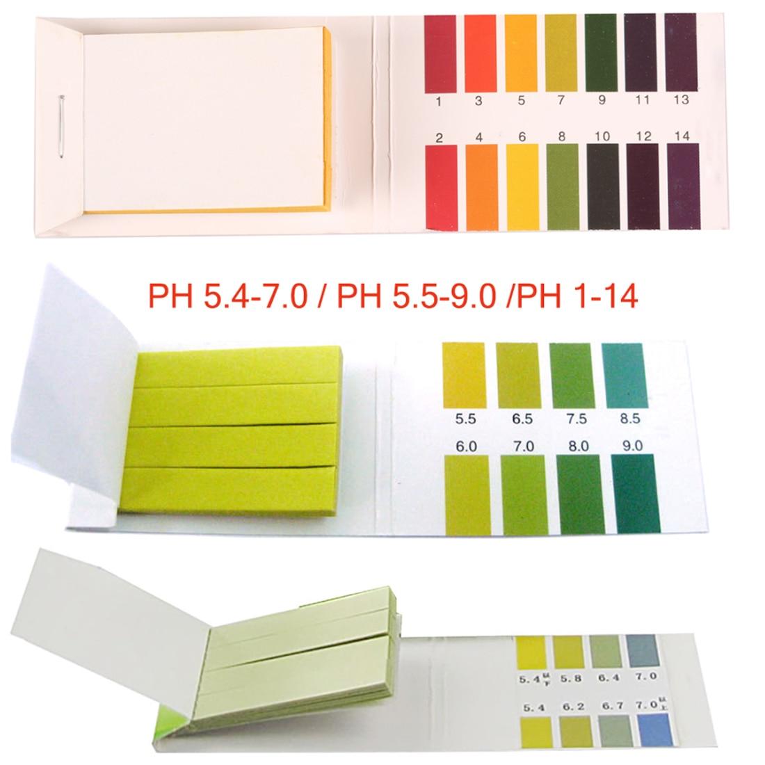 80 Strips PH 5.4-7.0,PH 5.5-9.0,PH 1 -14  Alkaline Test Papers Strips Indicator Lab Supplies Litmus Testing Kit For Plant,Water