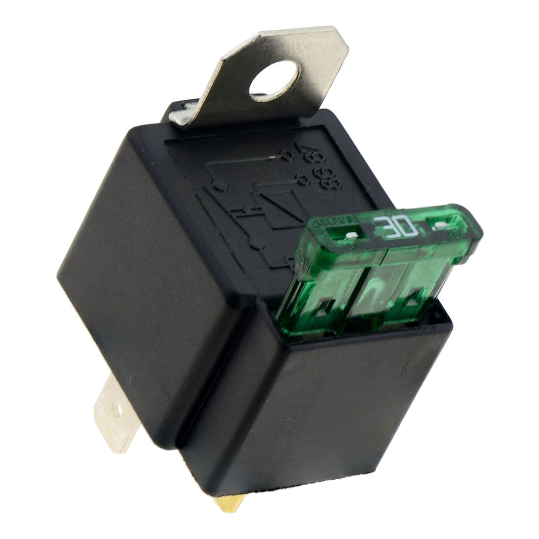 12V automotive on//off fused relais 30A 4-Pin avec support socket
