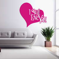 Aw9514 Heart Love Words Wall Decals Quote Decorations Living Room Sticker Bedroom Wall Stickers Couples Room