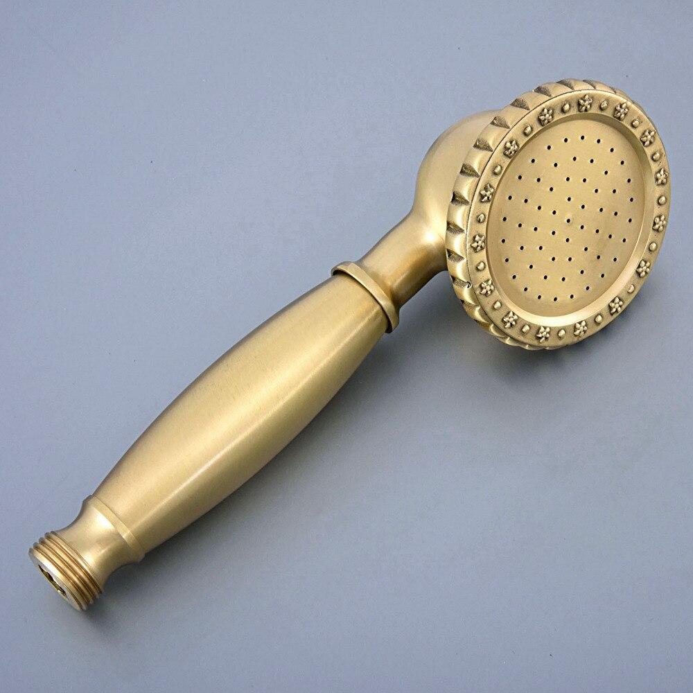 Антиквариат латунь телефон стиль ванная фарфор ручной поднос вода экономия душ насадка ahh007