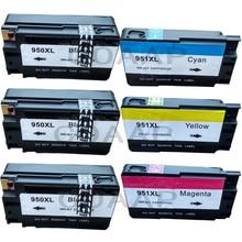 купить 6PK Compatible Ink Cartridge for HP 950 XL 950XL 951 951XL officejet Pro 8600 8100 8610 8620 printer N911g N911a full ink hp950 дешево