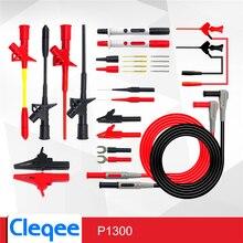 Cleqee P1300D P1300E P1300F Replaceable Multimeter Probe Test Hook&Test Lead kits 4mm Banana Plug Alligator Clip Test stick
