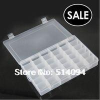 Wholesale cheaper Good quality 36 grid transparent storage box kit jewelry box jewelry box PP FREE SHIPPING