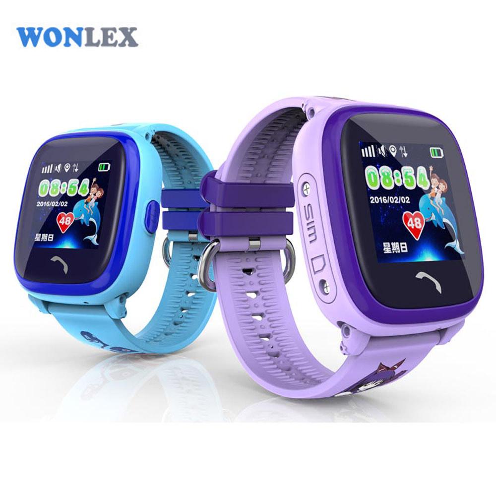 Prix pour Wonlex IP67 Étanche Téléphone Intelligent GPS Montre GW400S Enfants GSM GPRS Localisateur Tracker Anti-Perdu Écran Tactile Enfants GPS montre