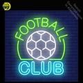 Неоновая вывеска для футбольного клуба  декоративная стеклянная трубка  ручная работа  световая вывеска  Пользовательский логотип  персона...