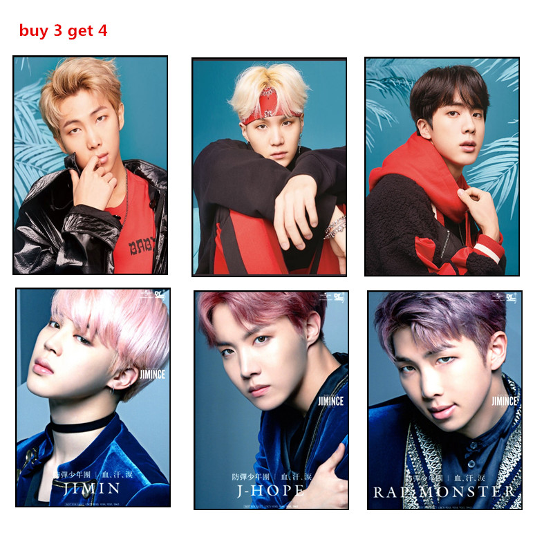 new style poster decoration painting home bedroom poster gift giving part 7 bts taehyung warriors