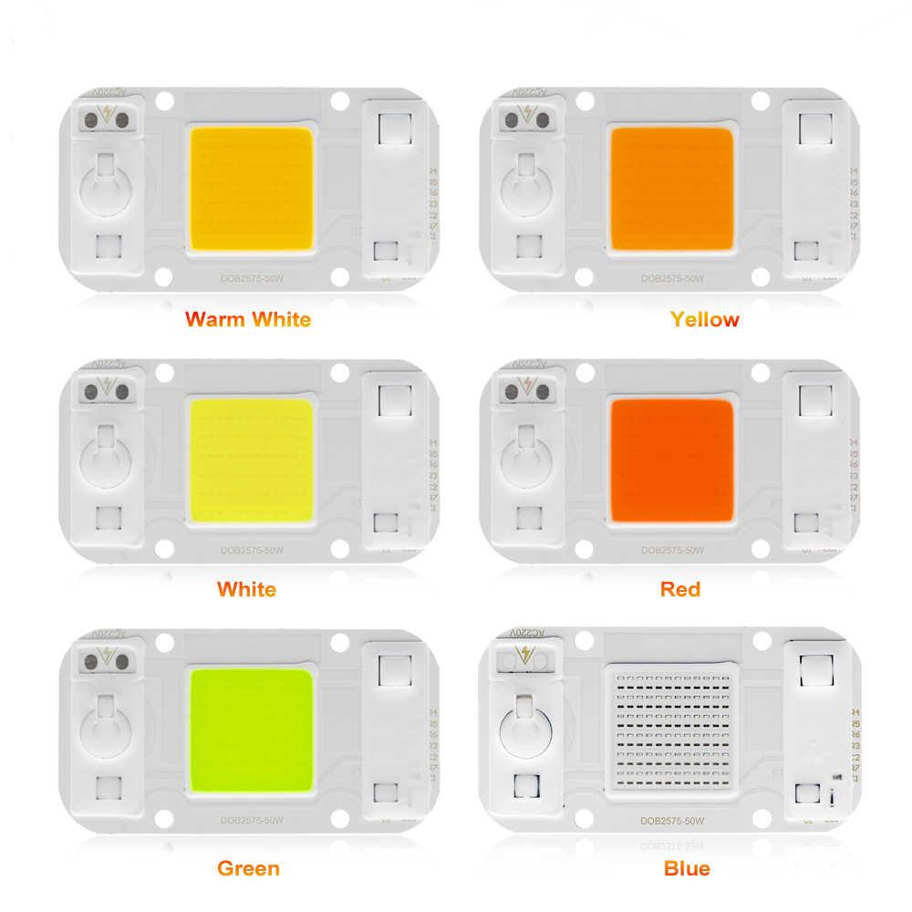 SMD COB Spotlight AC220V DOB Led Bulb Chip Beans Smart IC 20W 30W 50W Energy Saving Outdoor Lamp White/Warm White/Blue light