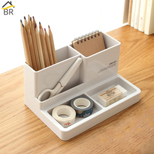 BR Plastic High-grade Multifunctional Desk Stationery Organizer Storage Box Pen Pencil Box Office Supplies Holder Case Organizer deli office pen container small objects storage box multifunctional desk organizer portable pen holder office school supplies