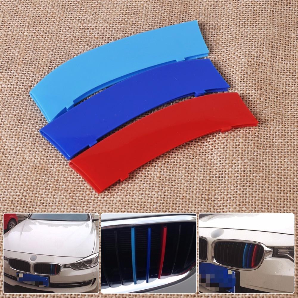 Car color kit - Dwcx 3pcs Kit M Color Sport Car Front Plastic Kidney Grille Bar Buckle Cover For Bmw 3 Series 11 Bars F30 F35 2013 2014 2015 On Aliexpress Com Alibaba