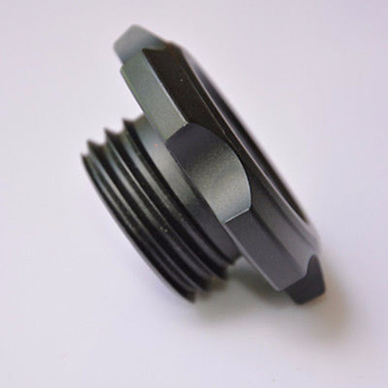 NEW Blcak Aluminium Engine Oil Filler Caps Cover Plug for Subaru WRX - Bahagian auto - Foto 2