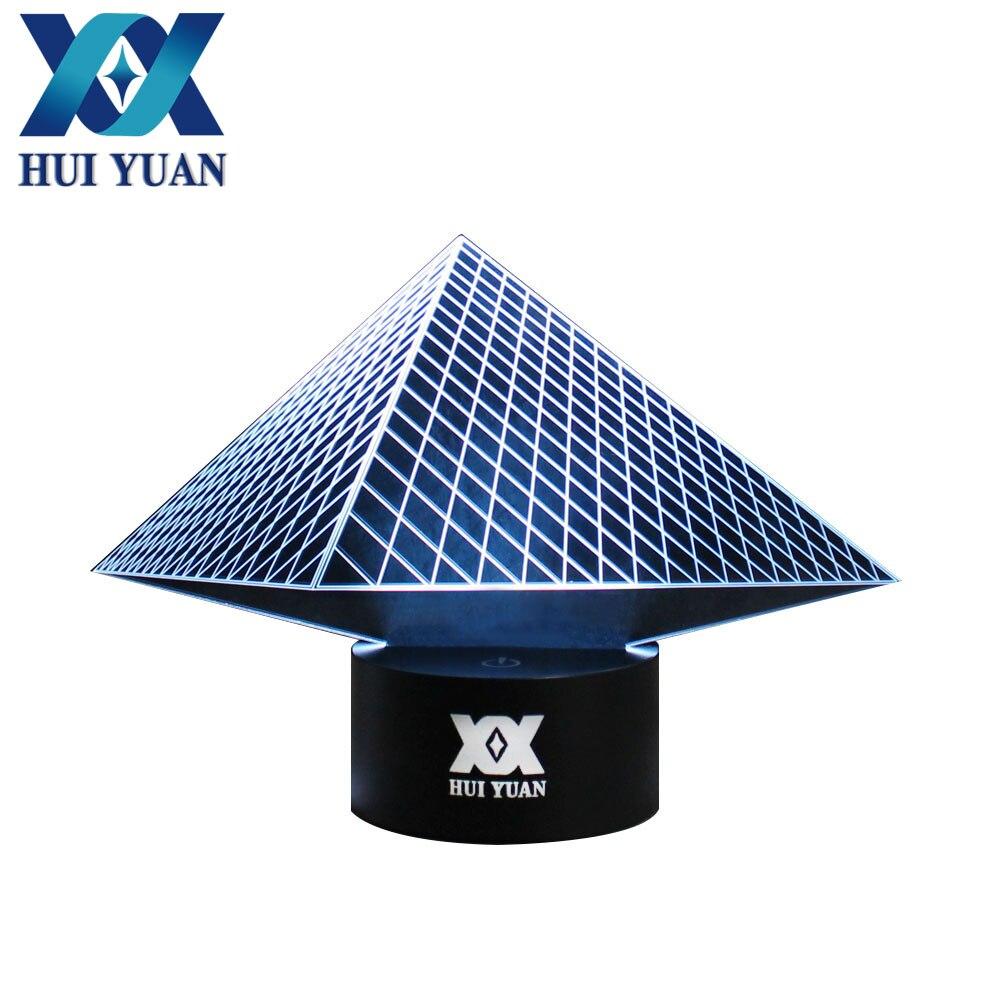 h y egyptian pyramid 3d night light rgb changeable mood lamp led light dc 5v usb decorative. Black Bedroom Furniture Sets. Home Design Ideas