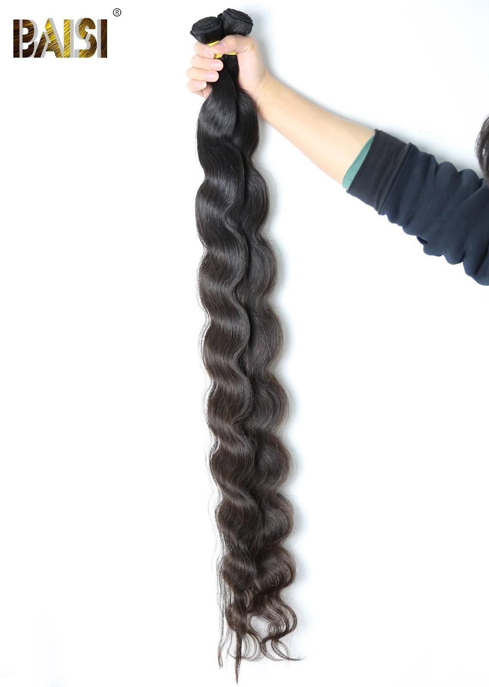 Baisi Factory Peruvian Virgin Hair Body Wave Longest Length 28 30 32 34 36 384042 Human Hair Extension Free Shipping