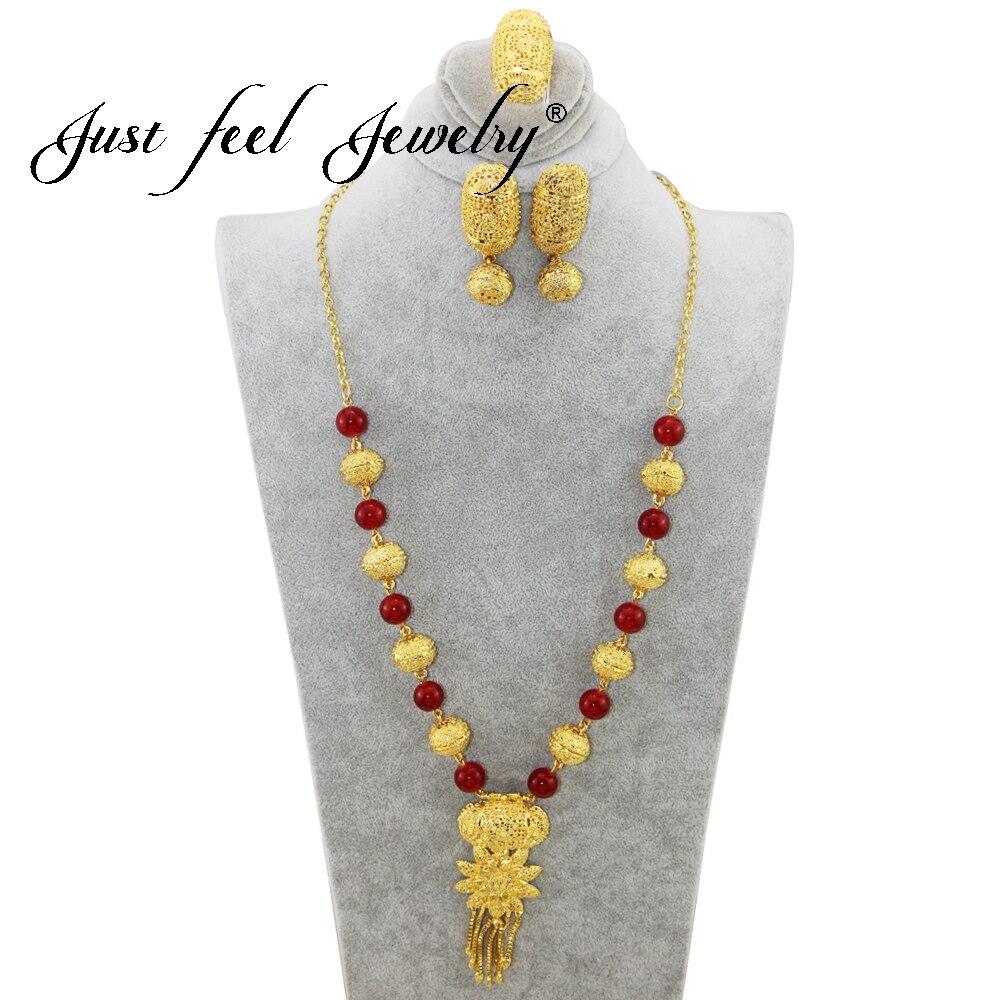Zoshi Dubai Gold Schmuck Sets Afrikanische Perlen Erklärung Halskette Ohrringe Armband Ring Sets Frauen Damen Hochzeit Zubehör Schmuck & Zubehör