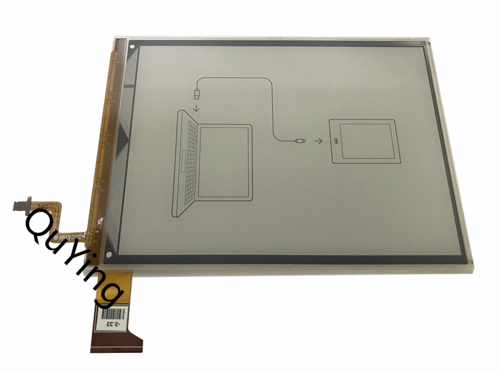 LCD Screen Display Panel E-Ink ED060KG1 (LF) C1-68 For Kobo Glo HD 2015 BQ Cervantes 3 FNAC Touch Light 2 Tolino Shine 2 eReader 6 e ink ed060xg1 lf t1 11 ed060xg1 768 1024 lcd screen screen for kobo glo n613 reader ebook ereader lcd display