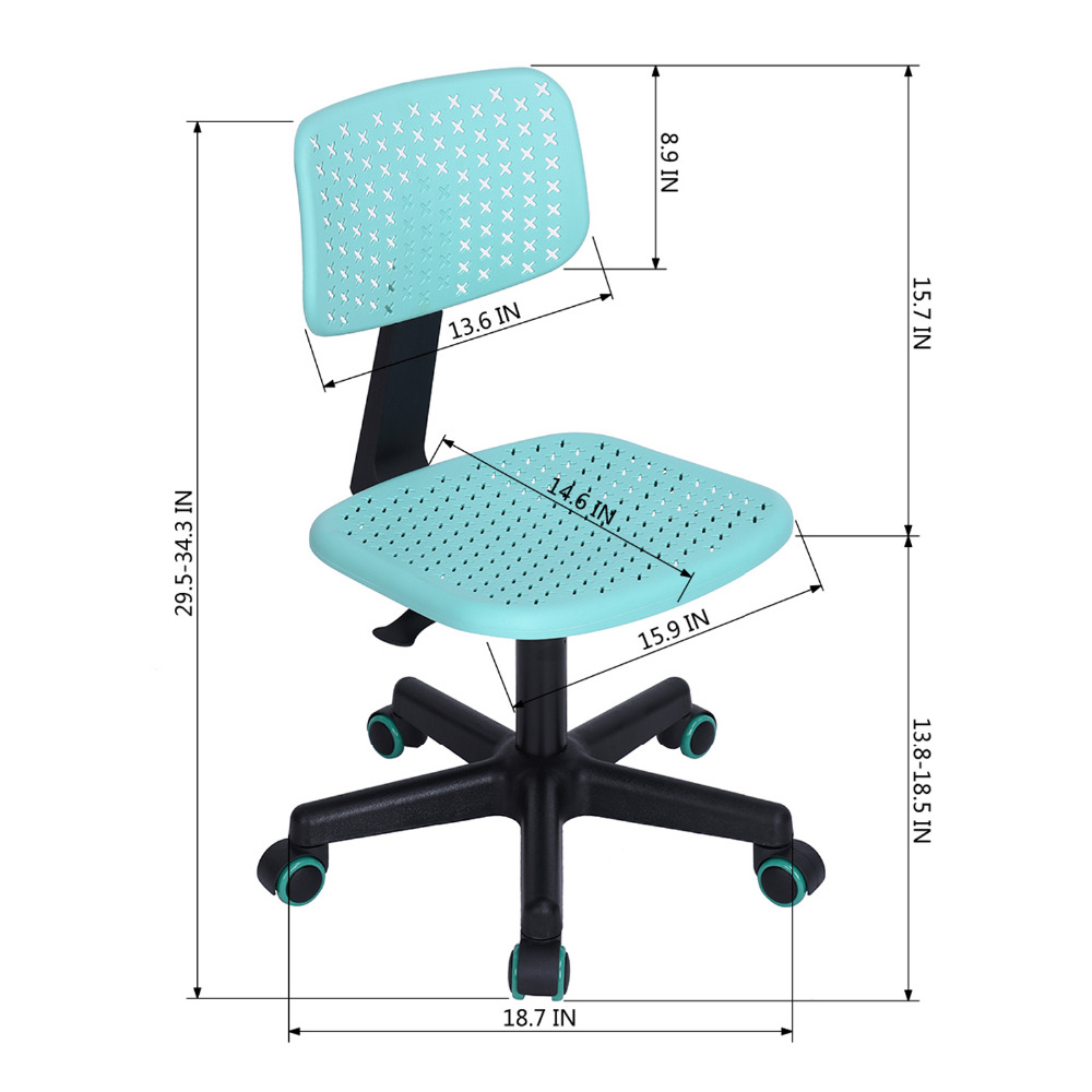 Aingoo Ergonomically Office Chair Task/Computer Chair With Colorful PP Back  Breathable Office Chair Computer Casual Chair In Office Chairs From  Furniture On ...