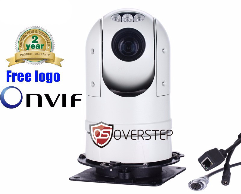 Free shipping 1080P 2MP ONVIF 20X MINI IR PTZ IP Camera Mini high Speed Dome Outdoor