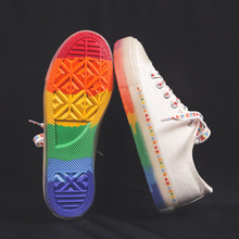 Women Canvas Shoes Sneakers Rainbow Sole 2019 Fashion Trends