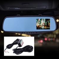 DWCX 3.5 HD 1080P DVR Rear View Mirror Video Recorder Dual Cam Reversing Camera Converter 11.6V for 12V DVR 23.2V for 24V DVR