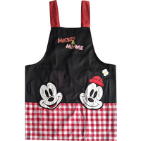 Bodecin Noir Mignon Mickey Minnie Souris Japonais Cuisine Tablier Femme Avental de Cozinha Divertido Tablier Cuisine Chasuble Tablier