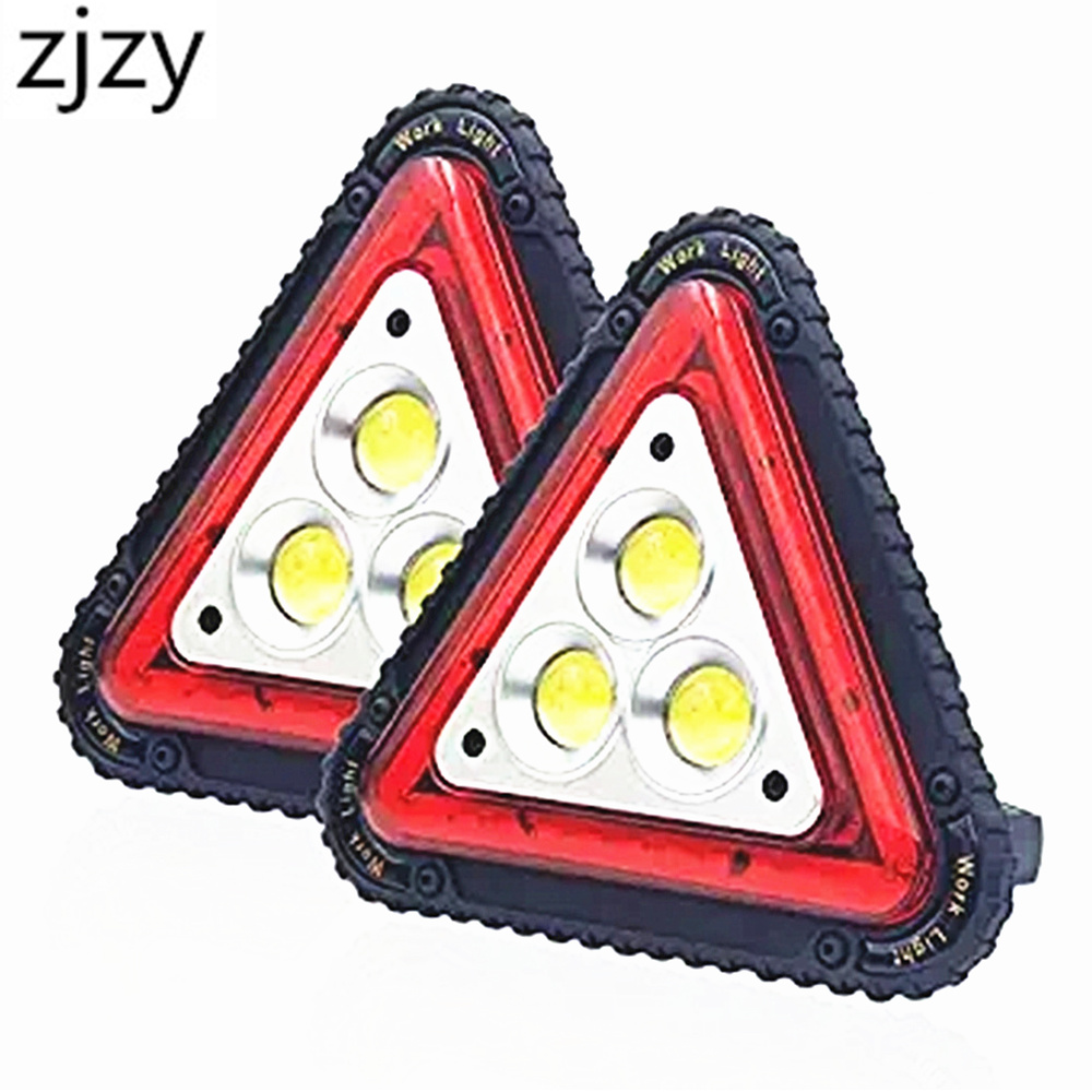 3 COB Triangle Warning Light 30W 1500LM LED Work Light Portable LED Flood Lights For Outdoor Camping Hiking Repairing