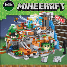 Light legoing My worlds minecraft set figures Mechanism Mountain Cave Building Blocks Bricks Toys Compatible with Legoings 21137(China)