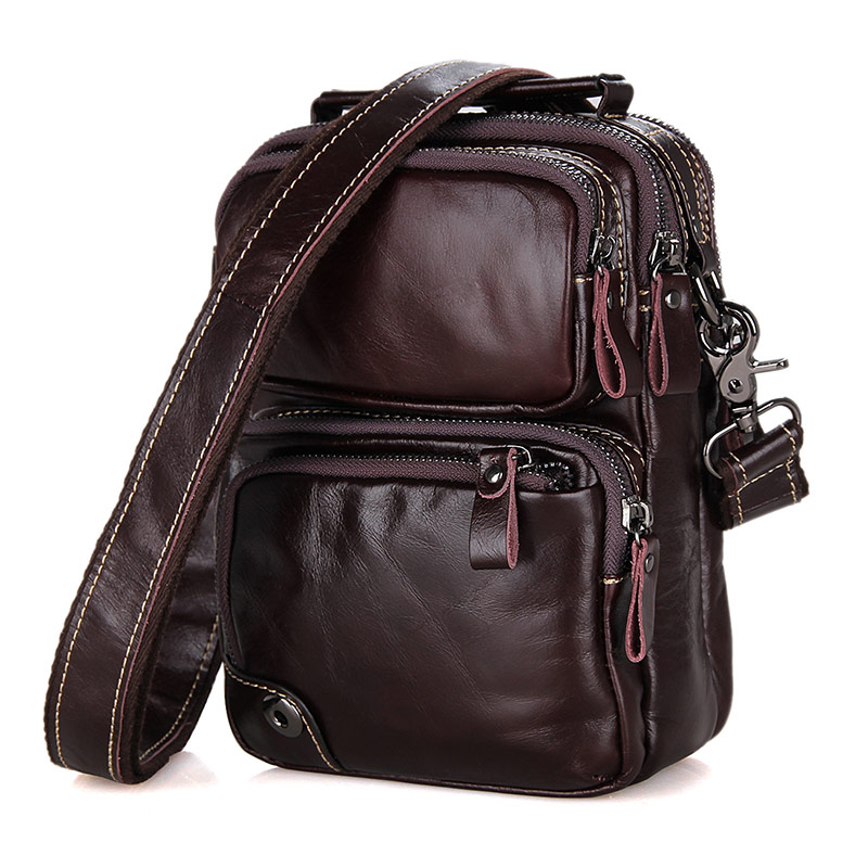 Augus Genuine Leather New Arrivals Fashion Handbag Flap Messenger Bag Shoulder Bag Brown Color Handbag Crossbody Bag 1010C