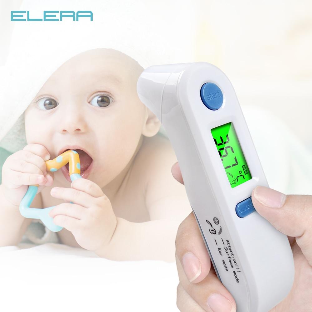 Elera термометр цифровой Лихорадка Средства ухода за кожей Средства ухода за мотоциклом Температура инфракрасный термометр ушной лоб ребенка и взрослого