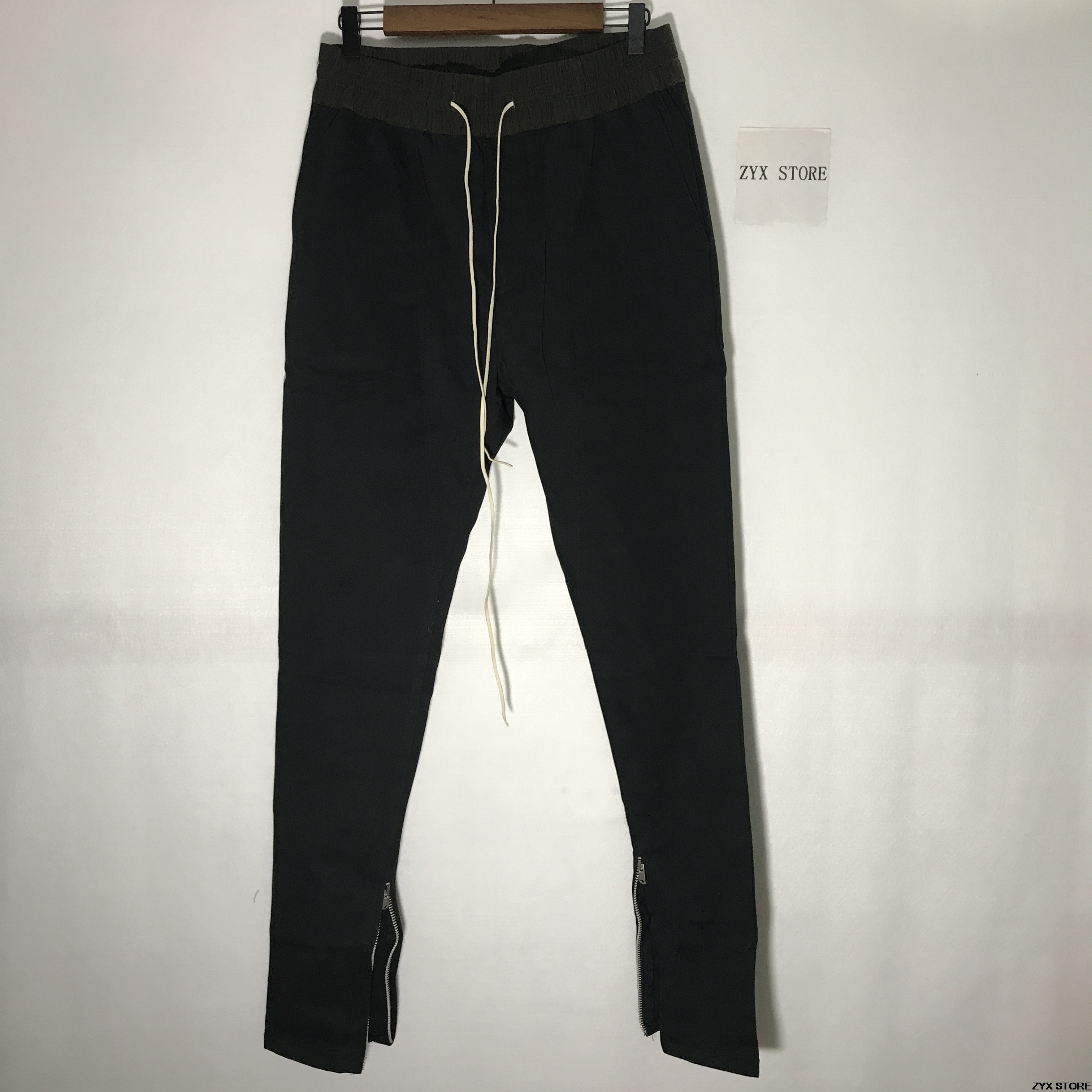 0dec209b 2017 Fear Of God Forth Collection 1:1 FOG Justin Bieber side zipper casual  pants
