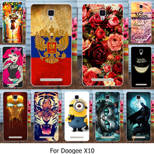 AKABEILA Silicone Phone Cover Case For Doogee X10 X 10 5.0 inch Cover Soft TPU Case Housing Flowers Rose Cat Housing Bags