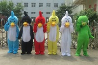 Anger Ongoing Bird Mascot Costume Big Bird Green Pig Carnival Costumes Fancy Dress Adult Size Free Shipping Costume Mascot