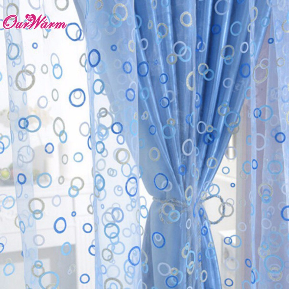 French door curtains blue - Curtain For Living Room Circle Tulle Sheer Curtain Voile Window Curtains Drapes For Door Balcony Panel Home Textile
