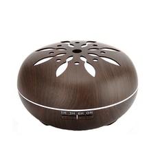 Telinkin Электрический увлажнитель для дома yoga с древесины лепесток 7 цветов огни дистанционного Управление диффузоры нефти Арома диффузор