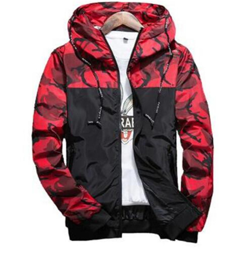 Spring Autumn Mens Casual Camouflage Hoodie Jacket Men Waterproof Clothes Men's Windbreaker Coat Male Outwear