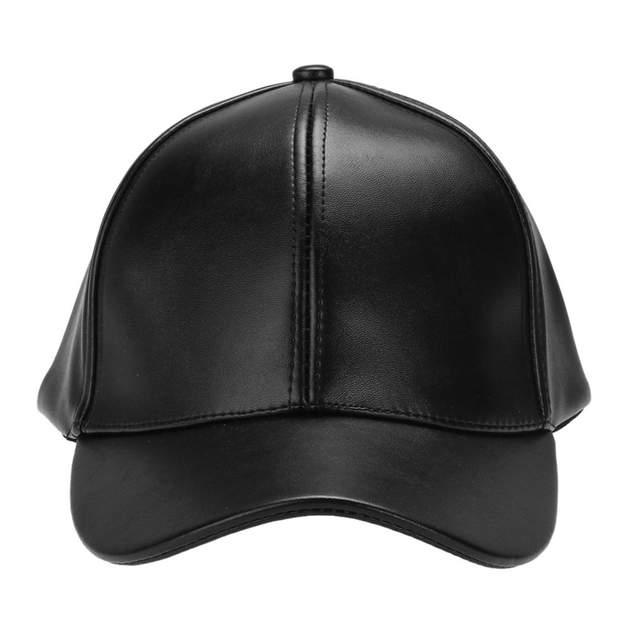 52e624e3596 placeholder Unisex Men Women PU Leather Baseball Cap Snapback Outdoor Sport  Adjustable Fashionable Hat Red khaki
