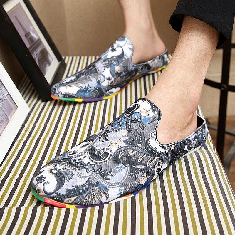 La Hommes Mode Dernière Fleur Ultra Occasionnel Et Bleu Demi gris rouge Tissu Léger Arc en pantoufle Chaussures Confortable De couleur Caractère Y7yf6bgv