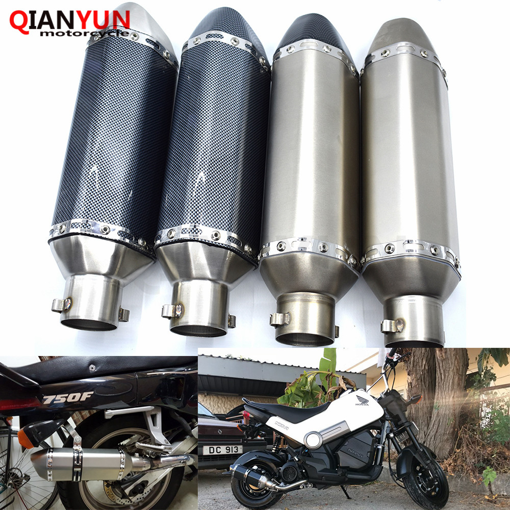 for Motorcycle parts Exhaust Universal 51mm Stainless Steel Motorbike Exhaust Pipe For Honda GROM CBR250R CBR300R CB300Ffor Motorcycle parts Exhaust Universal 51mm Stainless Steel Motorbike Exhaust Pipe For Honda GROM CBR250R CBR300R CB300F