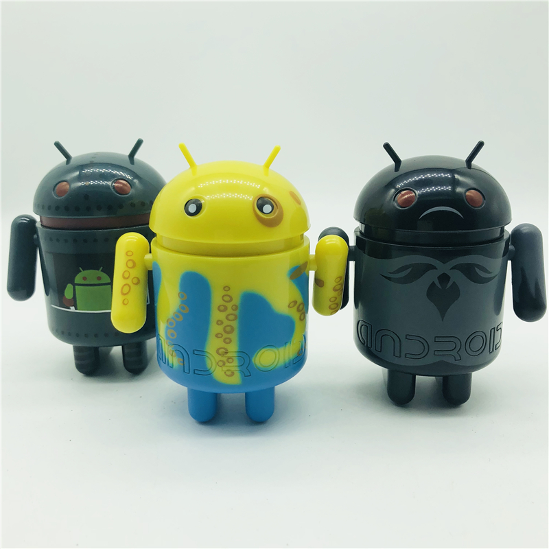 8.5 Cm Height Series 01 02 Robot Cartoon Figures Colorful Vivid Doll For Android Lovers Collectible Office Doll