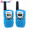2pcs Retevis RT388 Children Mini Walkie Talkie For Kids 0.5W 8CH PMR446 VOX Squelch LCD Display Ham Radio Handheld Hf Transceive