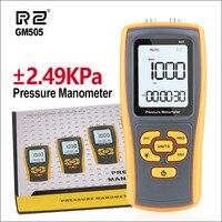 RZ Medidor de Pressão medidor de Pressão Diferencial Manômetro Manômetro Medidor De pressão Digital GM505 2.49KPa Medidor de Pressão de Ar