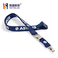 Airbus Lanyard For Pliot Flight Crew S License ID Card Holder Boarding Pass String Sling Metal