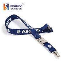 Airbus Cordino per Pliot Flight Crew di Licenza ID del Supporto di Carta di Carta Dimbarco Stringa Fionda Fibbia In Metallo di Personalità Regalo Unico