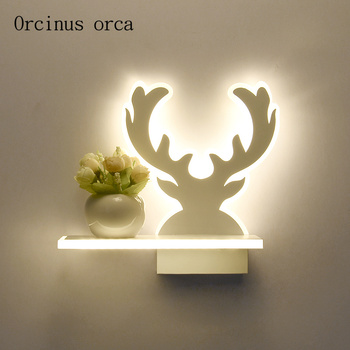 Postmodern minimalism shadow wall lamp living room hallway bedroom bedside lamp creative personality animal LED wall lamp