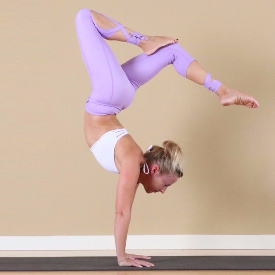 2017 New Style Cross Ballerina Yoga High Waist Inspired Ballet Dance Sporting Leggings Fitness Tight Bandage Yoga Cropped Pants
