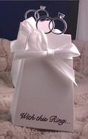 500 adet/grup 6.5*5*10 cm elmas yüzük Desen Favor Hediye Şeker Kutusu Bomboniere Kutuları Düğün gelin şerit wc064 ile duş
