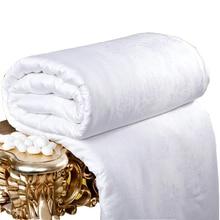 Стеганое одеяло из шелка шёлкопряда натурального шелка летнее Стёганое одеяло одного двуспальная кровать для взрослых близнец полный queen жаккард king size Одеяло одеяло