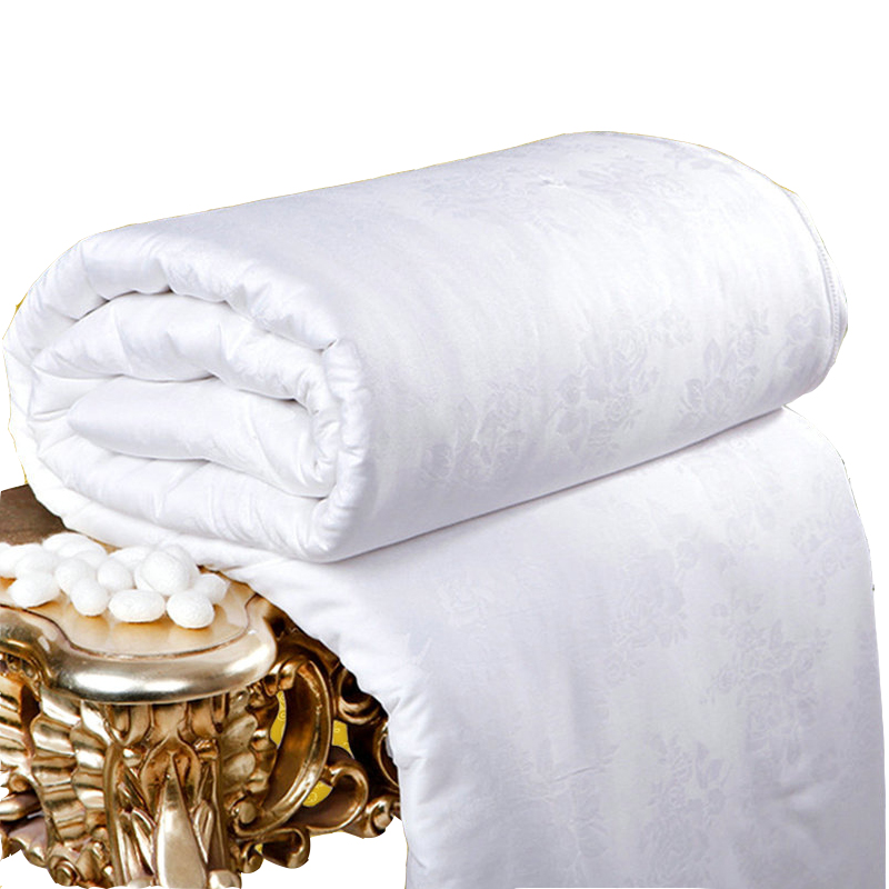 Mulberry Silk Comforter 100% Real Quilt de vară de mătase Single Double Bed Adult Twin Cuplu regal regal de dimensiuni Jacquard Comforter