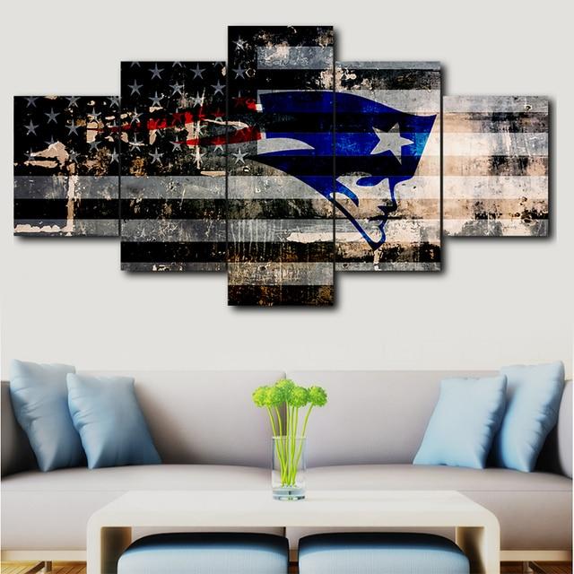 5 Panel Dallas Cowboys Canvas Prints Painting Wall Art Nfl: 5 Panel Painting Print Painting Canvas Art New England
