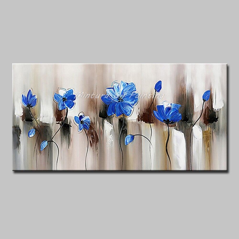 Mintura Art Большой размер Ручная роспись абстрактный пейзаж картина маслом на холсте современный настенный Декор картина для гостиной без рамы - Цвет: MT161269
