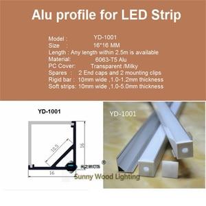 Image 2 - 10 40 adet 20 80m 80 inç, 2 metre/pc led alüminyum profil, 90 derece köşe profil 10mm PCB kartı led çubuk ışık